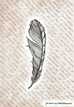 Ink feather by mowiedoCiebie
