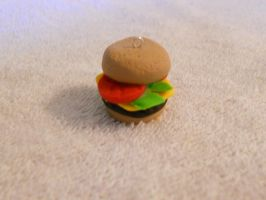 Cheeseburger charm by Moonie376
