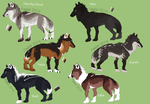 (CLOSED) WOLF ADOPTABLES AUCTION by Faelvir