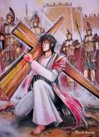 Way of the Cross - Jesus falls the first time by Dark-kanita