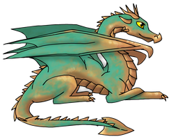Vedigris the Bronze Dragon by Treestar14