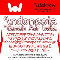 Indonesia Tanah Air Beta font by weknow by weknow