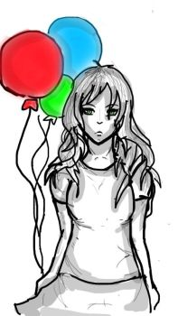 Colourful Balloons by TheCoolDoodler