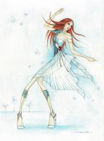 watercolor dress by transe