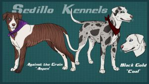 SK's Against the Grain and SK's Black Gold by Sedillo-Kennels