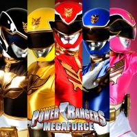 Power Rangers MegaForce Soundtrack Album Art by EchoLeader