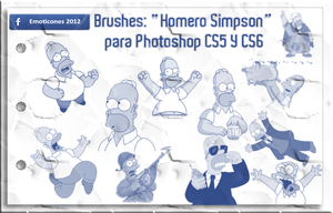 Brushes: Pinceles 'Homero Simpson' para Photoshop by Emoticones2012