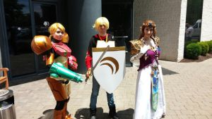 AnimeNEXT 2015- Jaune, Samus, and Zelda by Robinsu