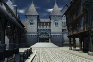 medieval village 9 by indigodeep