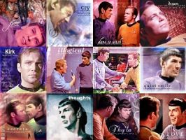 Twelve Kirk and Spock Icons by TreeofKnowledge