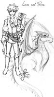 Lucas and his dragon Tefna by Lo-chan07