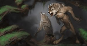 Werewolf Clearing by MadMosquito