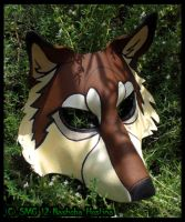 Leather Wolf Mask by Nashoba-Hostina