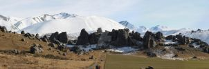 Castle Hill Panorama Winter by Reub-o-tographer