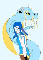 Ayane and the Water Dragon by animedugan