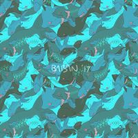 Fish Tiled Pattern - Link to buy in desc.! by BabaKinkin