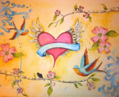 heart with wings spring by designgirl2