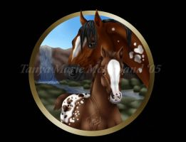 Appaloosa Mare and Foal by Elvandia