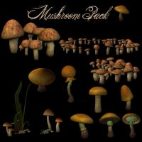 Mushrooms Pack 1 by zememz