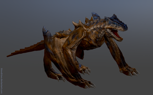 Tigrex zbrush sculpt by bloodrizer