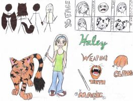 Haley character sheet 1 by kampfly
