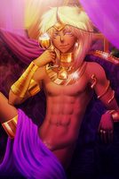 Marik - Care for a drink? by AngelLust155