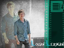 Logan Lerman Wallpaper by forksistoogreen