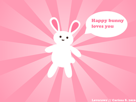 Cheerful Bunny by carissaraptor