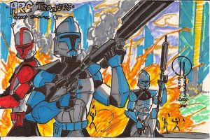 ARC TROOPERS sketch card by JoeyVazquez