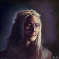 Game of Thrones - Cercei by GrayscaleArt