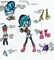 Dilemma the Anti-Hedgehog: Ref and Bio by Sonicemma