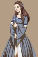 The Sad Slim Wolf Maiden Lyanna by BloodKnighttt