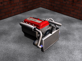 SR20DET Engine, Render 1 by Picolini