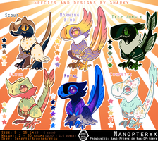 Sharky Sales: Nanopteryx Adoptables 4 [0/6 CLOSED] by albinosharky