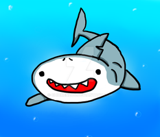 Smiley Shark by chickenzoo