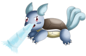 Pokedex 008: Wartortle- Water Gun by izka197