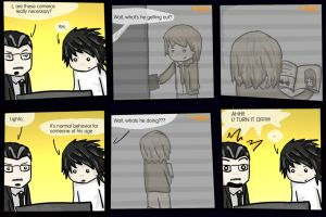Death note comic - Cameras by danlikestrees