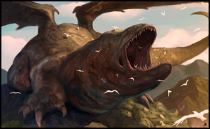 Gaping Maw with Birds by Davesrightmind