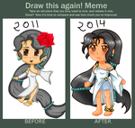 Before and After Meme 2014 by Rose-anime