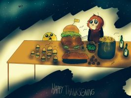 Happy Thanksgiving (collab) by watever-lover