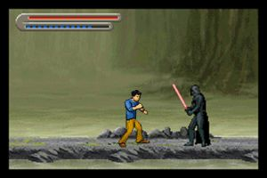 Jackie Chan vs. Darth Vader by LittleBigDave