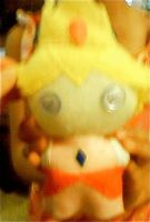 Peach Plushie by QuietButHappy