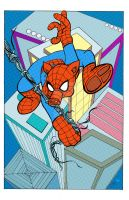 Spectacular Spider-Ham colored by NickMockoviak
