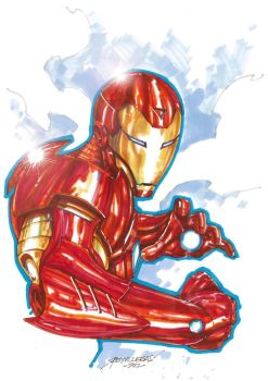 Iron Man marker sketch by Reybronx