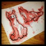 Left handed watercolors by ContradictingCats