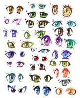 30 pairs of anime eyes by Lizalot