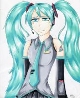 Hatsune Miku by Tip-the-cat