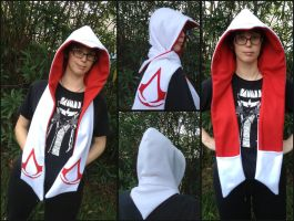 Assassin's Creed Scoodie Scarf Hood Cosplay by Monostache