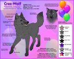 Craz-Wolf - Reference Sheet 2012 by Crazdude