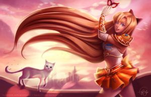 Sailor Venus - Fantasy Warrior Concept Art by keikei11